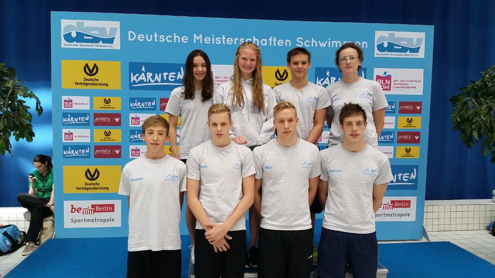 Poseidon Schwimmer erreichten 11 Finalläufe bei den DJM Berlin