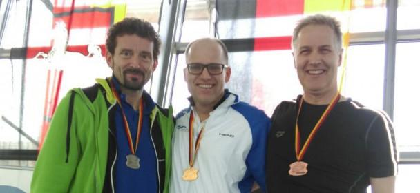 Gold und Silber für Birger Schubert bei den Internationalen Deutschen Meisterschaften der Masters in der AK 50